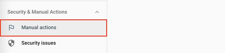 manual action در سرچ کنسول گوگل