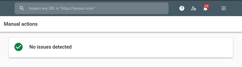 سبز بودن manual actions در سرچ کنسول گوگل