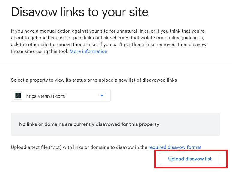 آموزش حذف بک لینک ها در گوگل